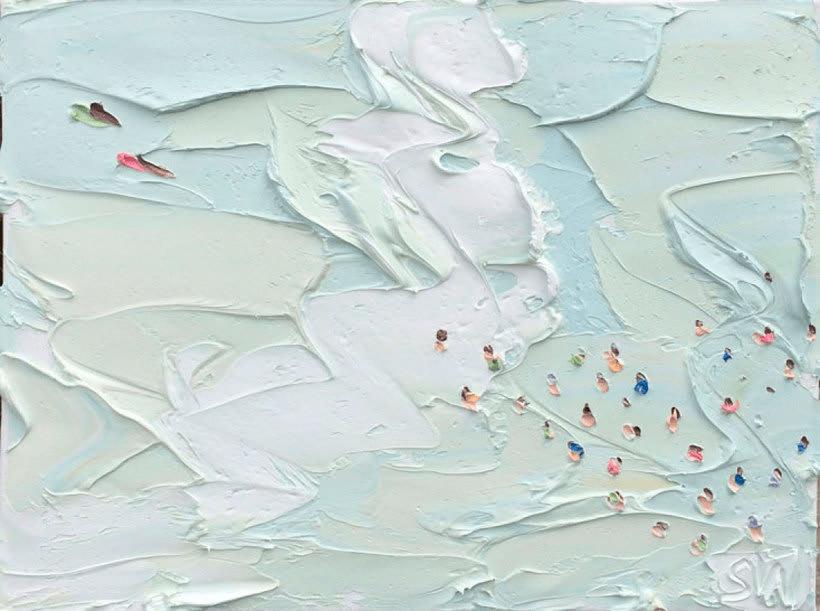 Escenas playeras al óleo por Sally West 8