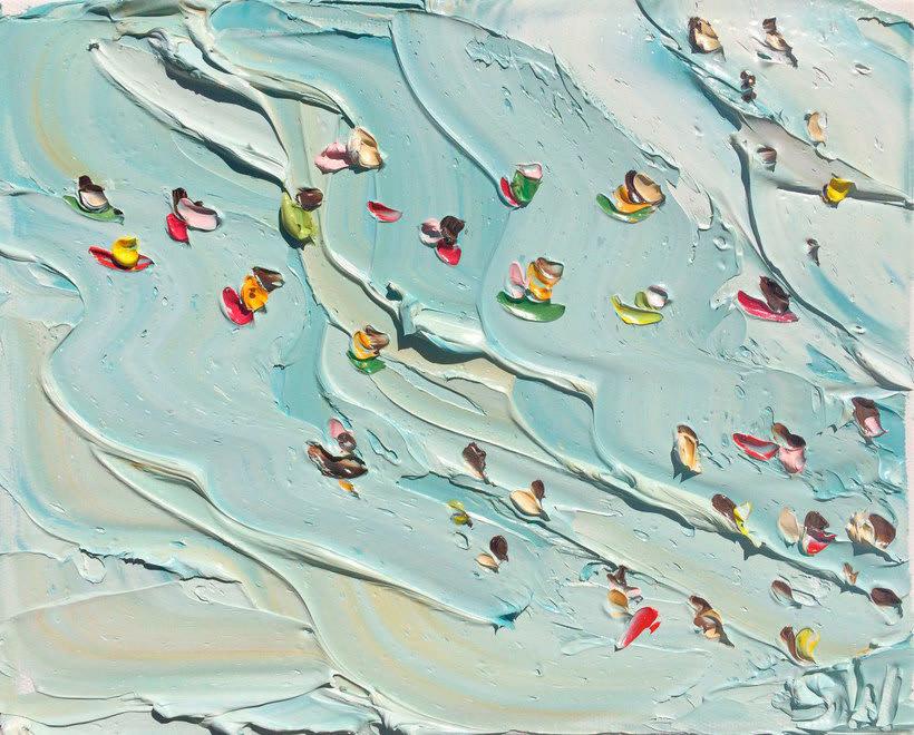 Escenas playeras al óleo por Sally West 14