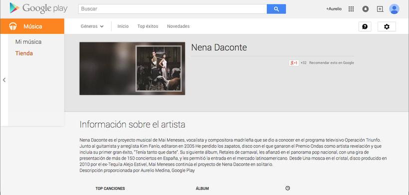 Google Play - Contenidos musicales 1