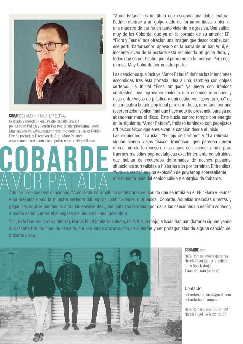 Cobarde - Nota de prensa para el grupo  -1