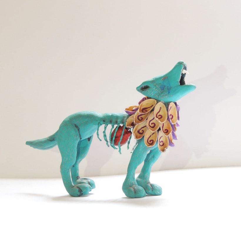 """""""El Rey Desterrado"""" Art Toy que representa al último lobo mexicano 0"""