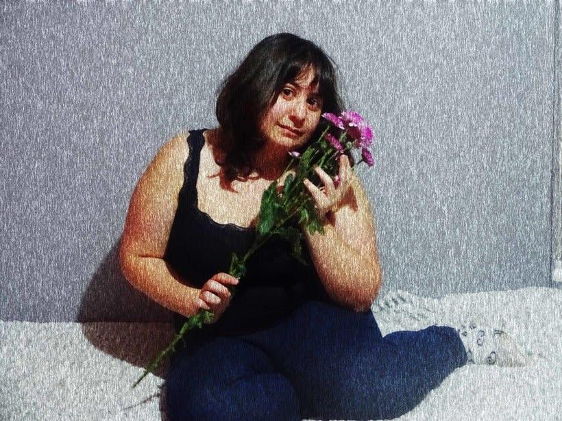 Retratos florales a mi amiga Sara 1