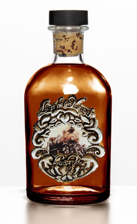 Etiqueta con la técnica de repujado, para licor de Coatepec -1