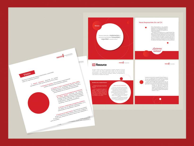 Diseño de manual corporativo para Nexos Empresariales 2009 -1