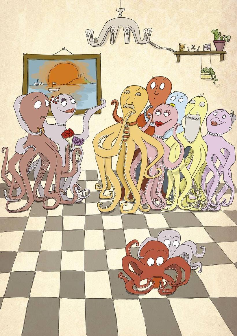 Ilustración digital: Octopus in love 0