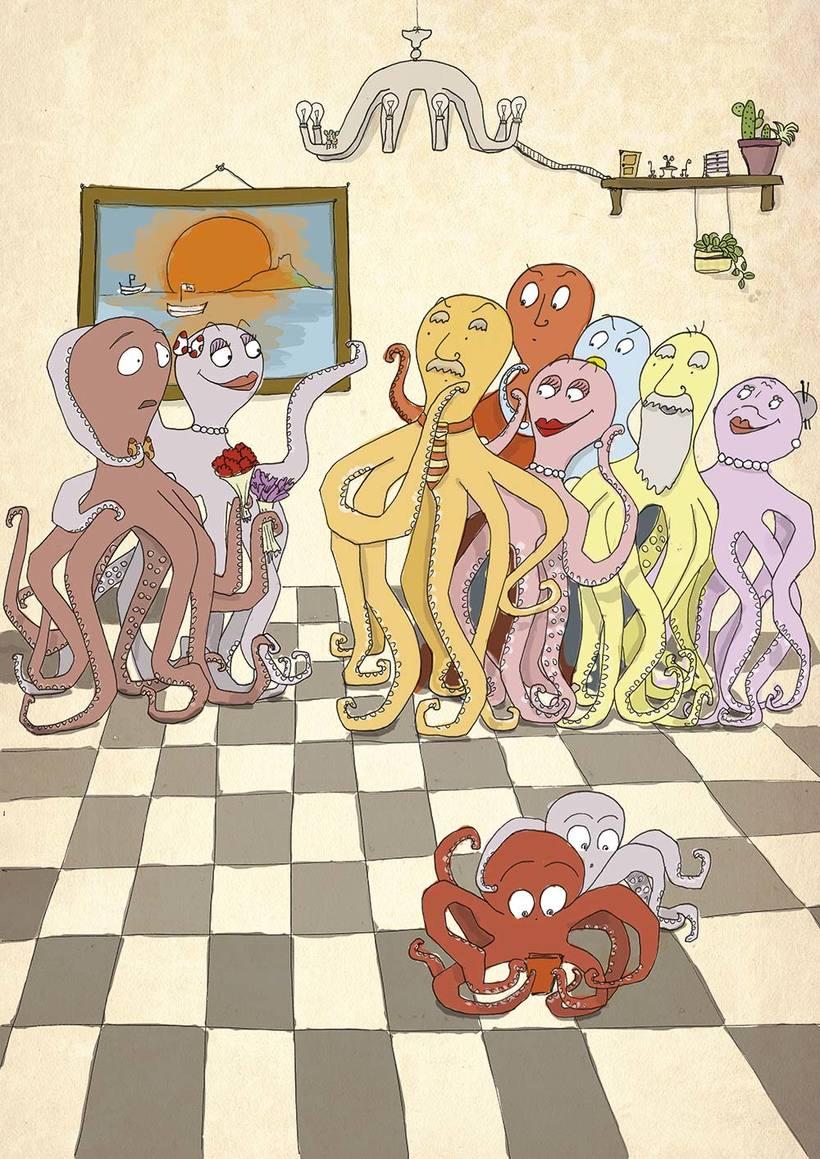 Ilustración digital: Octopus in love 0