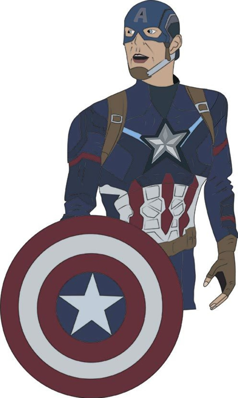 Ilustración digital: Captain America 0