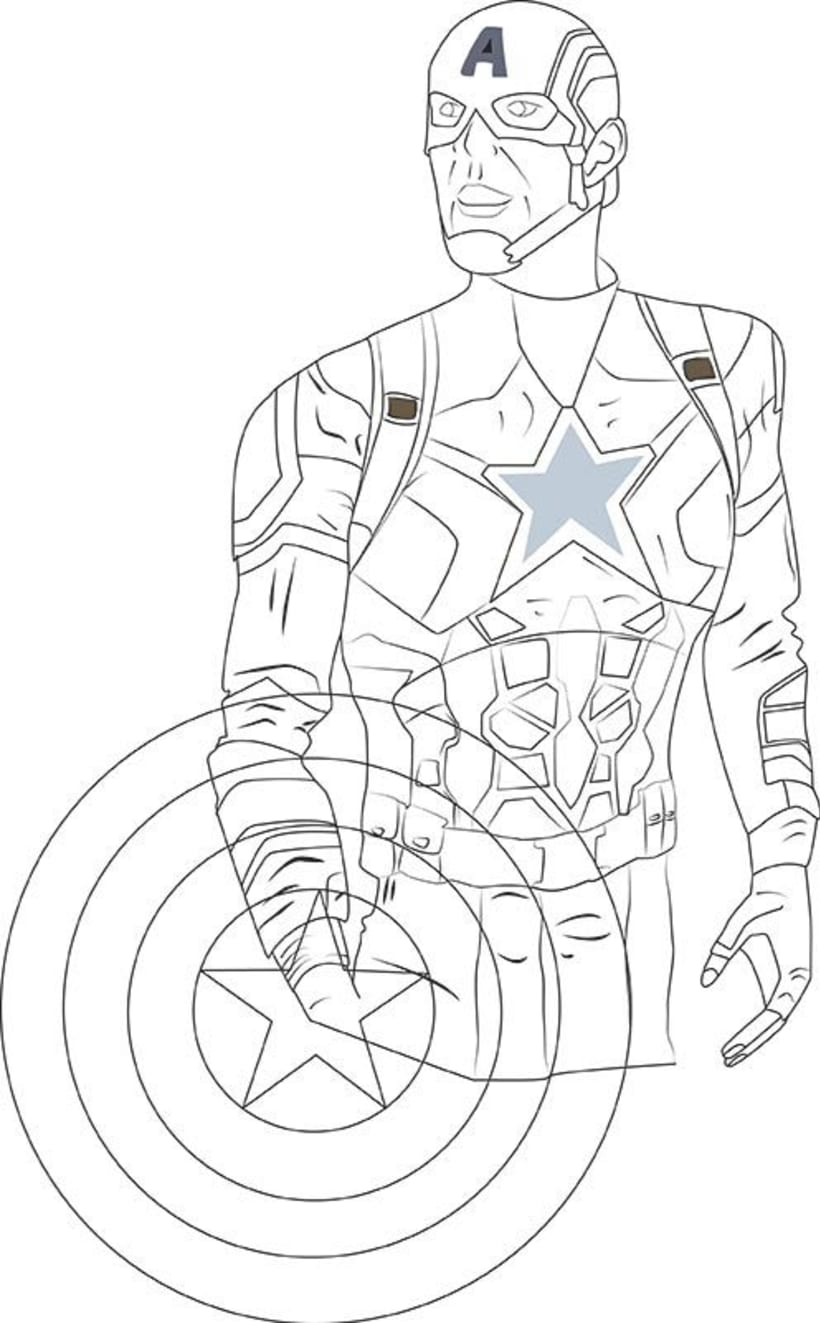 Ilustración digital: Captain America 1
