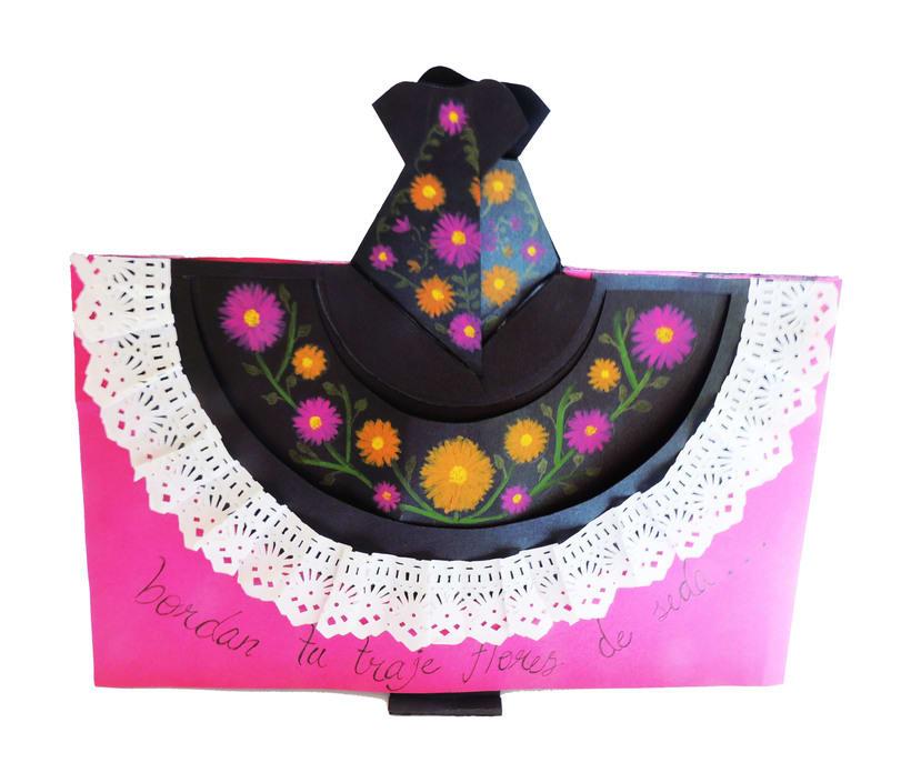 Tarjeta pop up, representativa del estado de Oaxaca 2