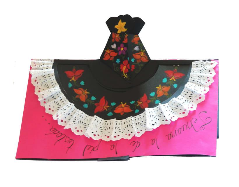 Tarjeta pop up, representativa del estado de Oaxaca 1
