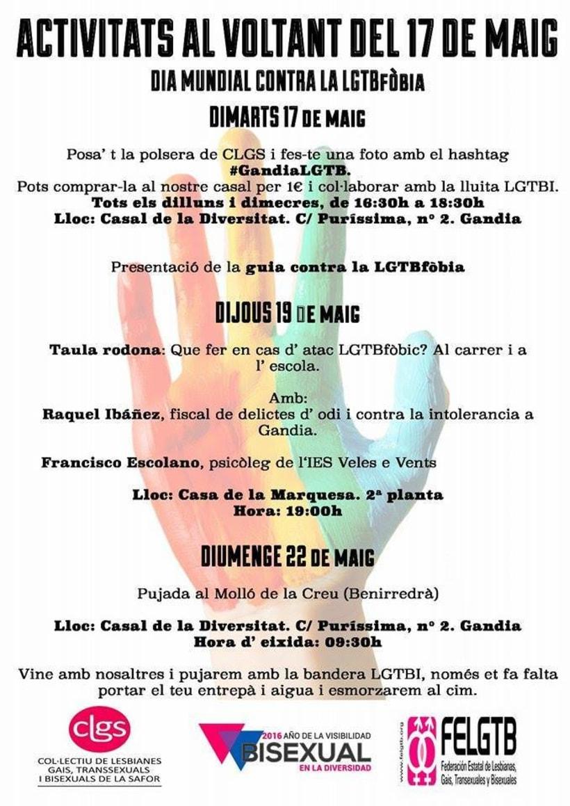 Elaboración de campañas comunicativas para CLGS (Colectivo LGTBI de La Safor) 2