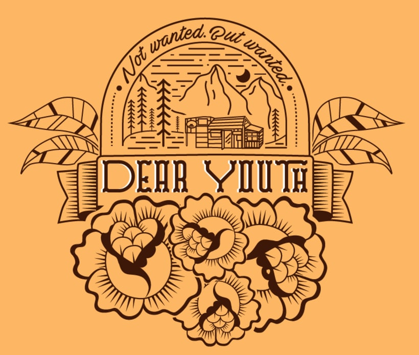 T-Shirt illustration for Canadian band Dear Youth -1