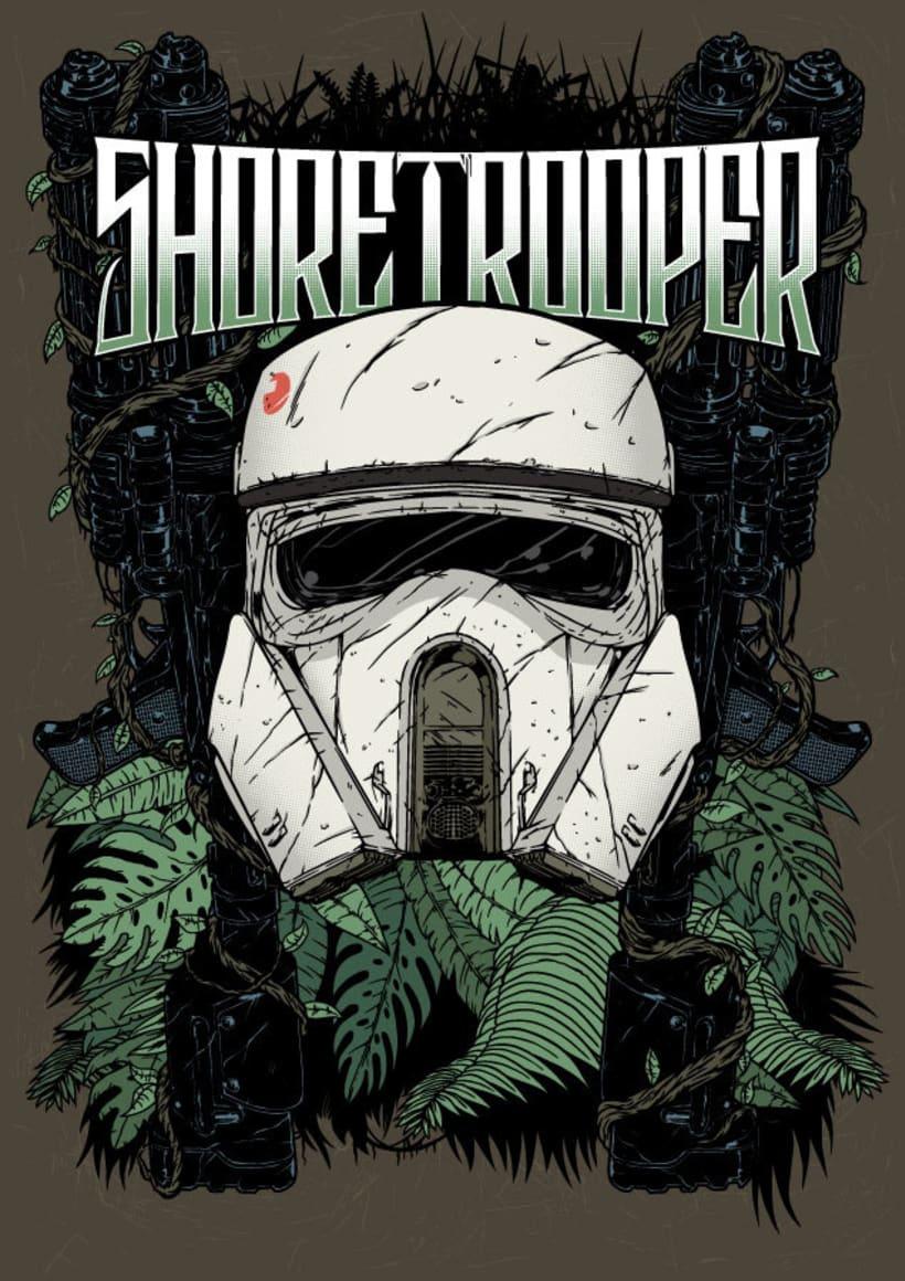 Star Wars -  Rogue One - Shore Trooper Fan Art -1