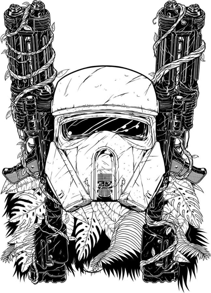 Star Wars -  Rogue One - Shore Trooper Fan Art 1