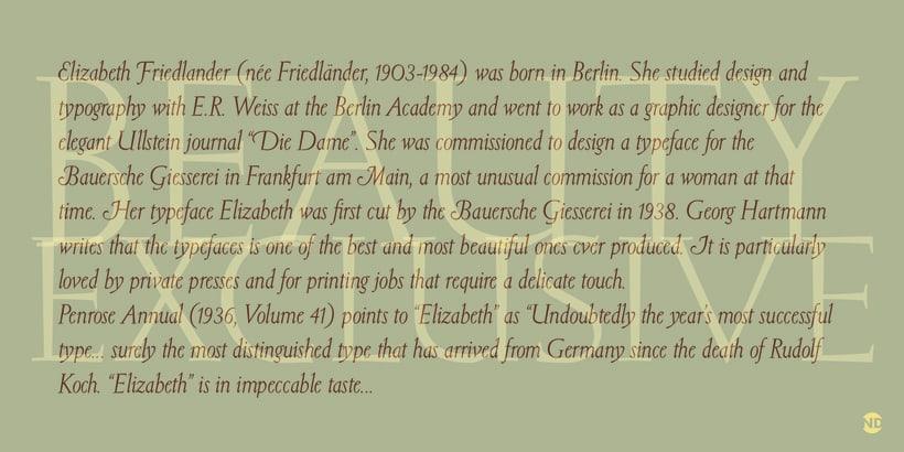 Tipografía Elizabeth 3