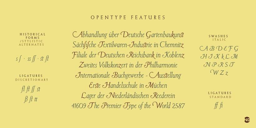 Tipografía Elizabeth 4