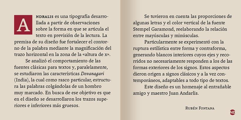 Tipografía Andralis 3