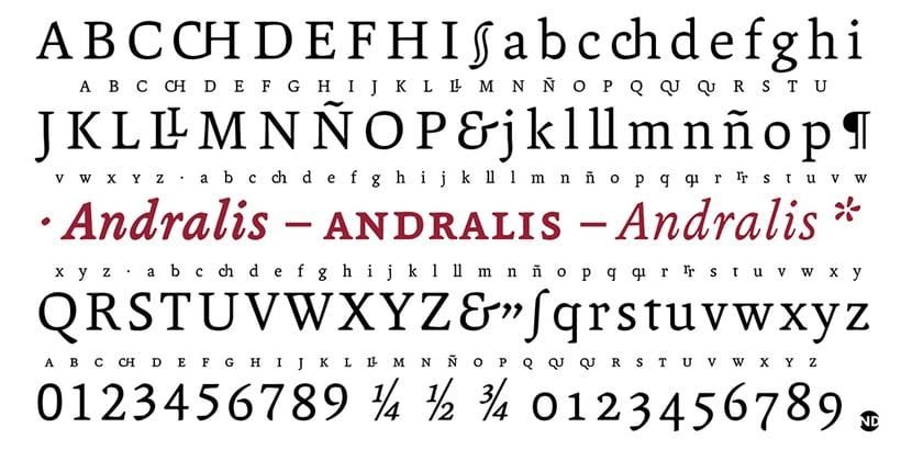 Tipografía Andralis 6
