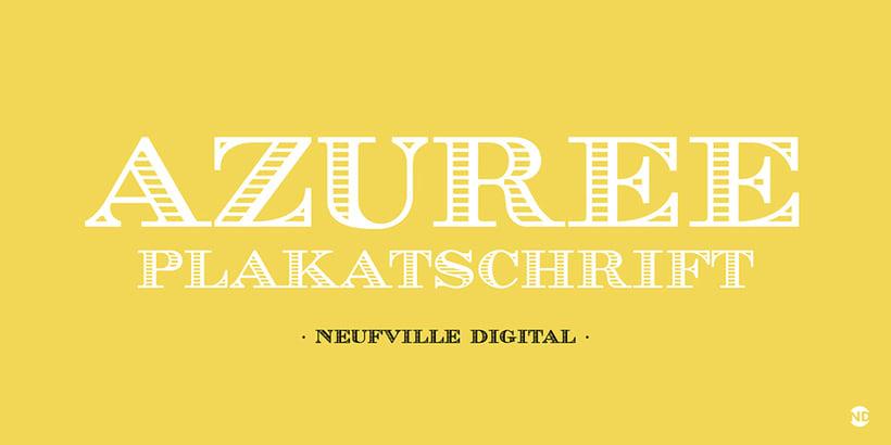 Tipografía AZUREE 0