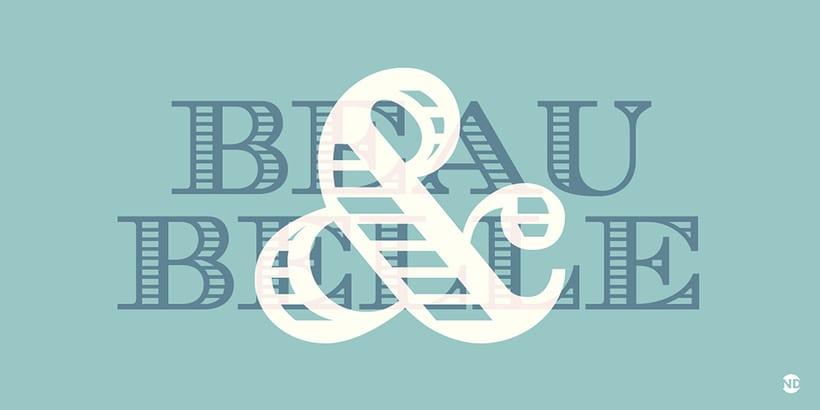 Tipografía AZUREE 6