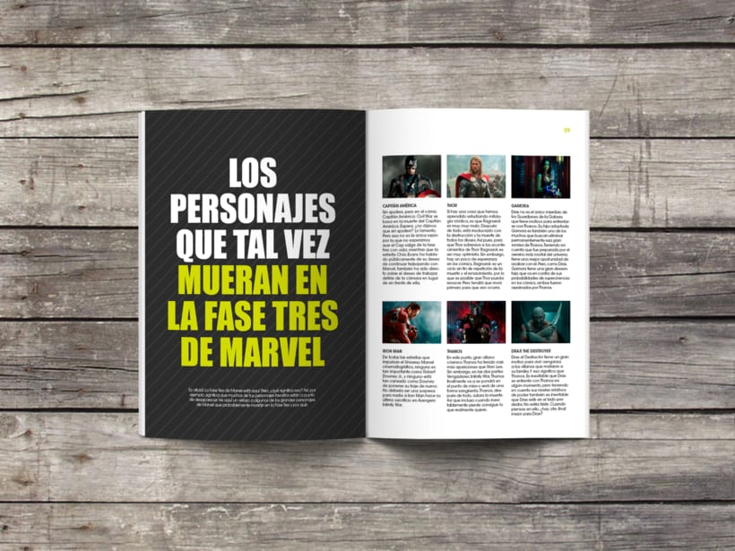 Diseño editorial - Marvel 2