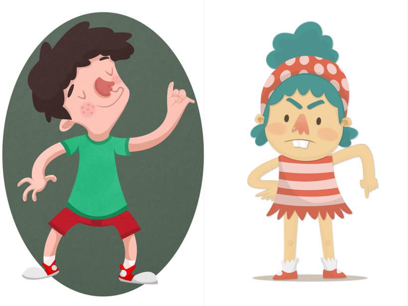 Ilustración de Personajes 1