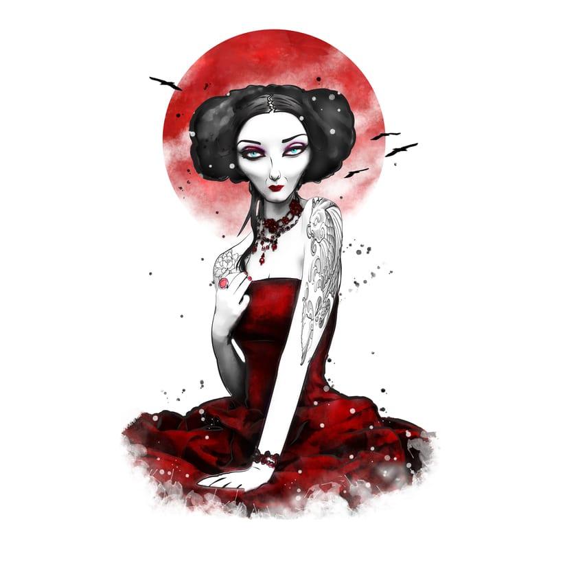 Red dress -1