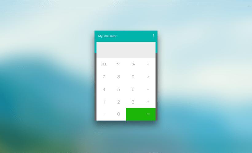 #DailyUI Challenge - #004 - Calculator -1