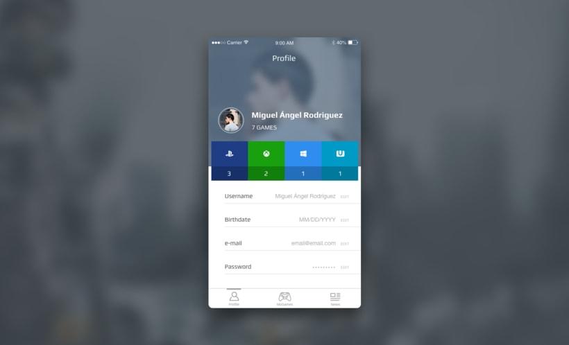 #DailyUI Challenge - #006 - User Profile -1