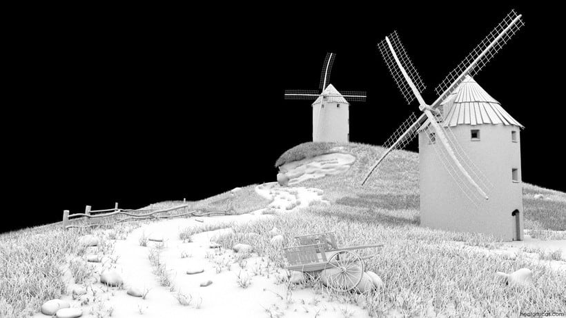 Windmills Landscape 2