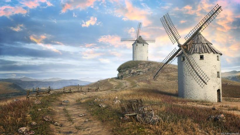 Windmills Landscape 0