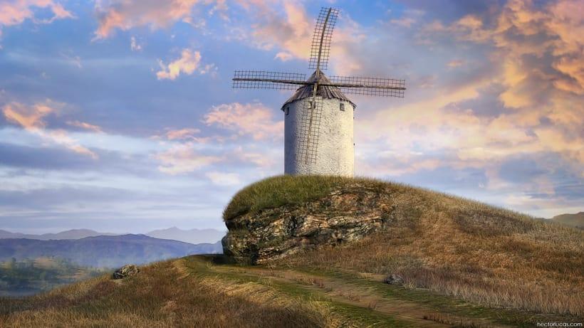 Windmills Landscape 1