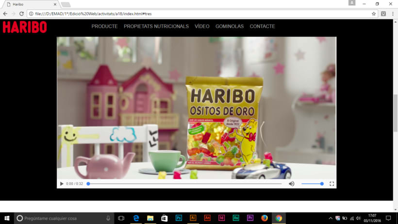 Prototipo pagina web HARIBO 0