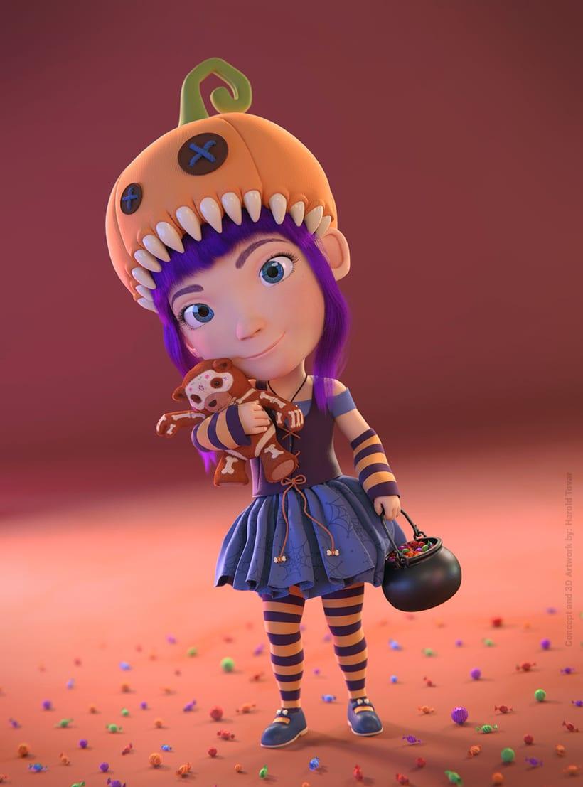 Clarita y Bonnie - Blender 3D -1