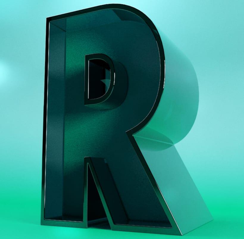 3D R Lettering 0