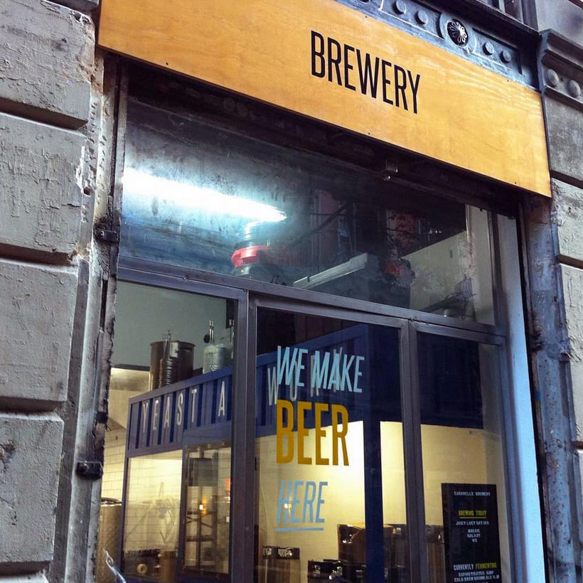 Hand Lettering - Caravelle Brewery, Barcelona 7