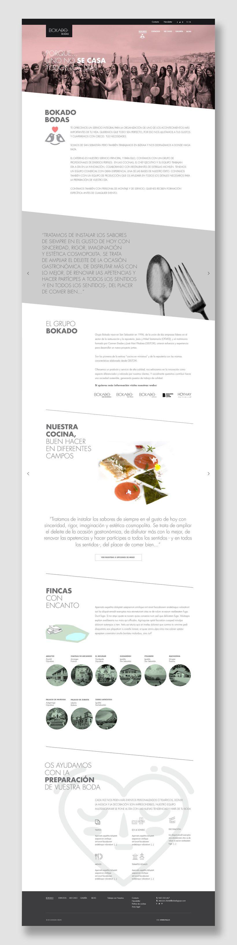 Bokado Bodas, sitio web 1