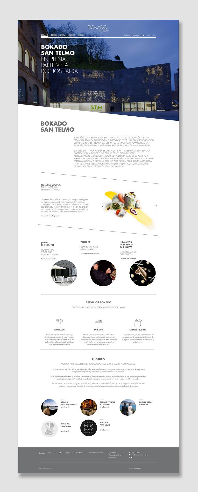 Bokado San Telmo, sitio web 1