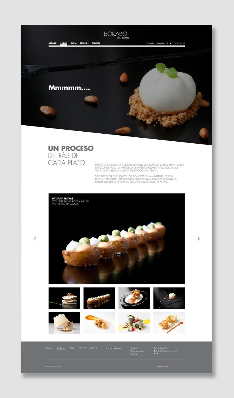 Bokado San Telmo, sitio web 2