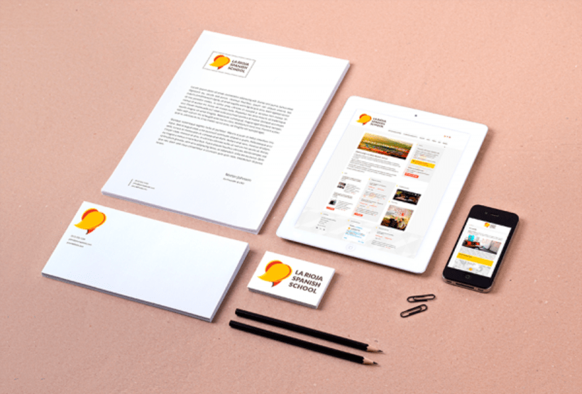 Identidad corporativa y Web: La Rioja Spanish School 0