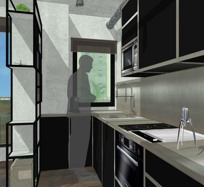 Proyecto final de Máster de una vivienda inspirada en la película de Blade Runner. -1