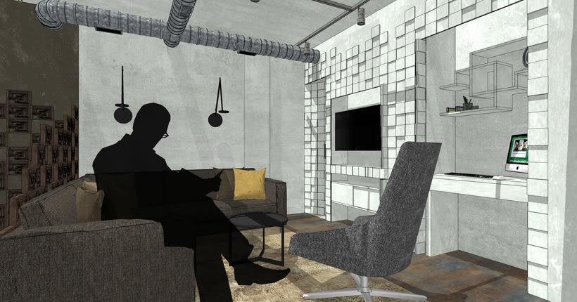 Proyecto final de Máster de una vivienda inspirada en la película de Blade Runner. 0
