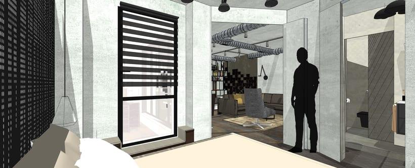 Proyecto final de Máster de una vivienda inspirada en la película de Blade Runner. 1