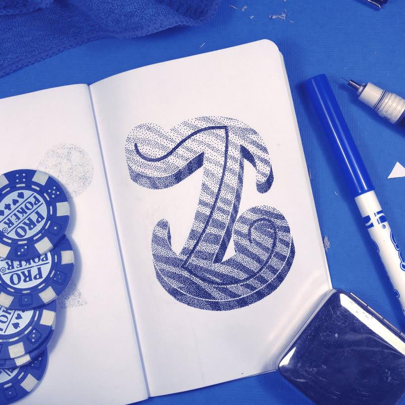 Dibujando lettering punto por punto 7