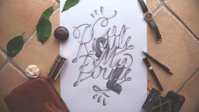 Dibujando lettering punto por punto 4