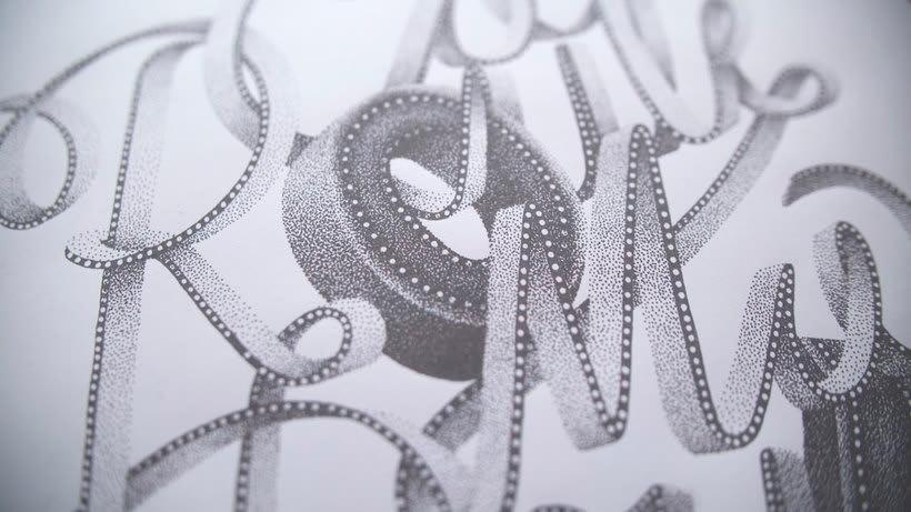 Dibujando lettering punto por punto 5