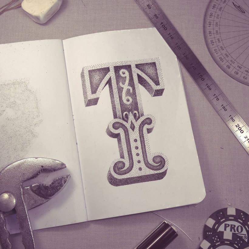 Dibujando lettering punto por punto 9