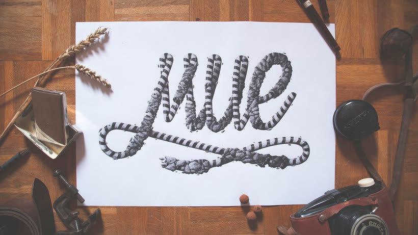 Dibujando lettering punto por punto 12