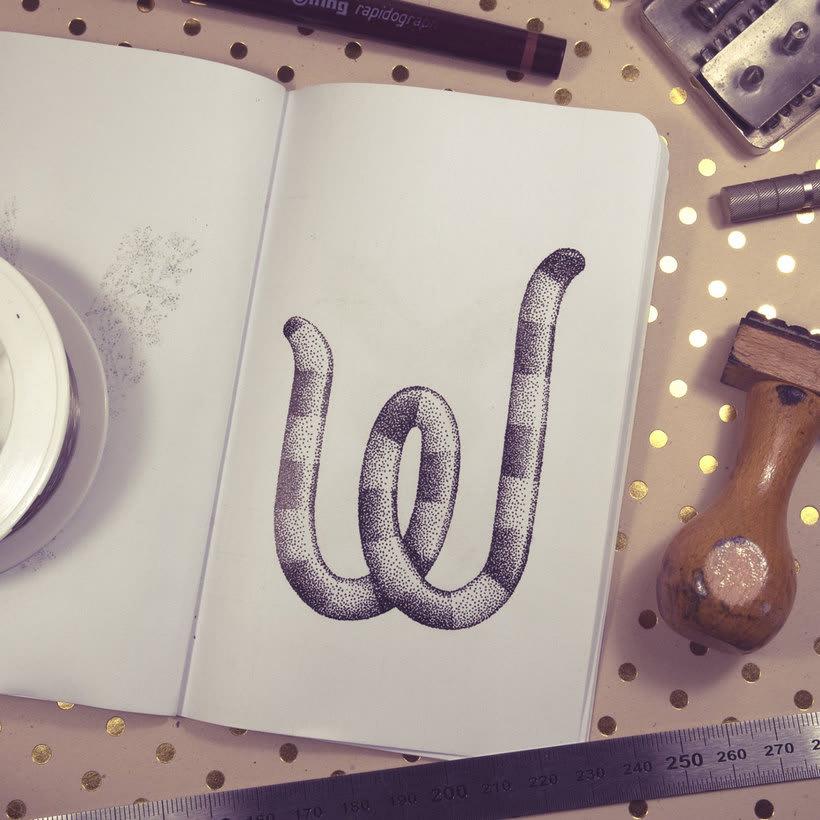 Dibujando lettering punto por punto 13