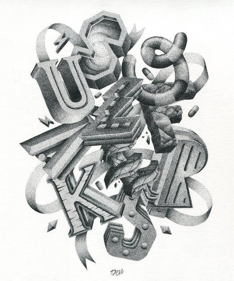 Dibujando lettering punto por punto 14